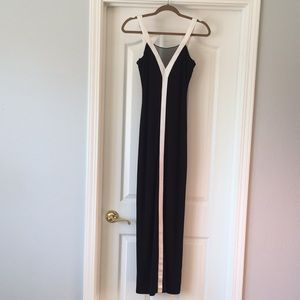 NWOT Black and White Evening Dress